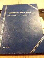 UNUSED MERCURY DIME 1916-1945 COIN COLLECTOR BOOK(81817)