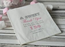 Personalised wedding sweet / sweetie candy cart favour bags sweet thank you