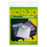 Korjo Zippered Plastic Bags Packing Luggage Travel Clothes Bag in 3 Colors-ZPB23