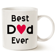 Father's Day Gifts Best Dad Coffee Mug Best Dad Ever Daddy Papa White Cup