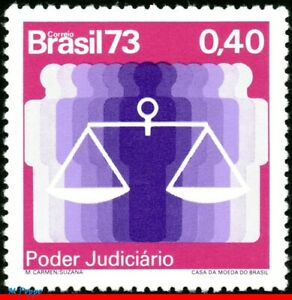 1326 BRAZIL 1973 HIGH FEDERAL COURT, SCALES OF JUSTICE, MI# 1413 RHM C-823, MNH