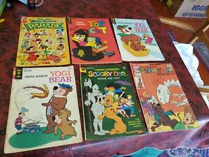 6 Charlton Gold Key Bronze Hanna-Barbera Comic Books Top Cat Yogi Bear ScoobyDoo
