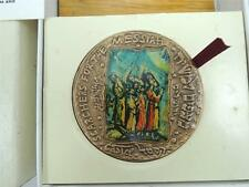 ISRAEL 1986 EVERLASTING LOVE by MOSHE CASTEL STATE MEDAL 70mm 140g BRONZE +BOX