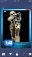 Topps Star Wars Digital Card Trader Blue Steel Shoretrooper Base 4 Variant
