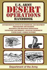 US Army Survival: U. S. Army Desert Operations Handbook (2013, Paperback)