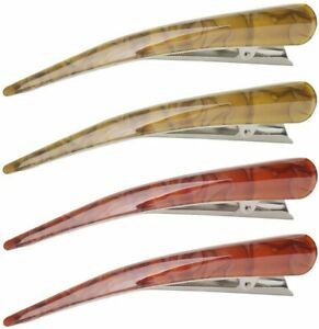 4Pcs Large Duck Teeth Bows Hair Clips, Sectioning Clips Classic Hair Grip Hairpi