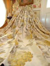"LAURA ASHLEY Hydrangea Camomile CURTAINS Floral COUNTRY CHIC  88"" x 89""D P2 OF 2"