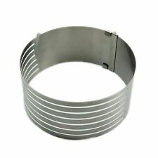 B6 16 -20cm Adjustable Stainle Scalable Moue Cake Ring Layer Slicer Cutter