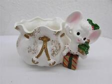 Vintage Christmas Napcoware Baby Mouse Planter Japan 1950's Napco
