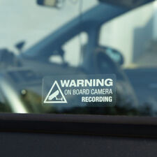 1x Warning On Board Camera Recording Car Window Truck Auto Sticker Decor Gifts