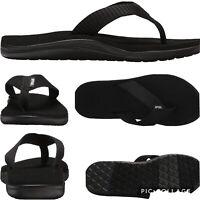 Teva Voya Flip Flop Sandals Womens 10 Black EVA Lightweight Foam Webbing Vegan