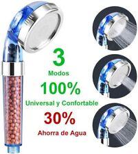 Alcachofa de Ducha Cabezal de Baño de Mano con Filtro 3 Modos Ahorro de Agua