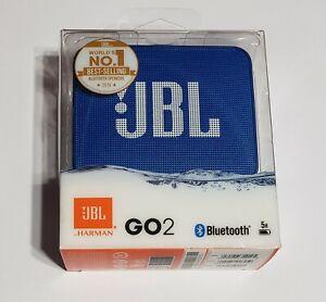 NEW JBL GO 2 Portable Bluetooth Wireless Speaker in Retail Packaging - BLUE