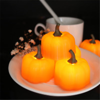 LED Pumpkin Lights Flickering Night Light Home Decor Halloween Decoration CN