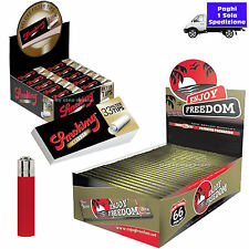 CARTINE LUNGHE Enjoy Freedom 66 Pz + FILTRI di CARTA SMOKING 50 blocchetti Box