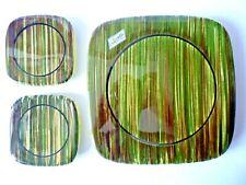 SAINT CLEMENT Céramique d' Art 1 Repose Plat et  2 Bouteilles FAIENCE années 60