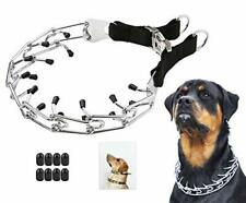 """New listing Dog Prong Training Collar, Stainless X-Large,4mm,23.6-Inch,18- 22""""Neck Black"""