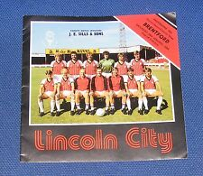 Lincoln City-V-Brentford 1983-1984
