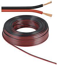 Lautsprecherkabel rot schwarz 50 M rolle Querschnitt 2 X 0 75 Mm