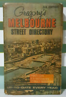 Gregory's Melbourne Street Directory: 3rd Edition! Vintage 1968 Hardcover Book!