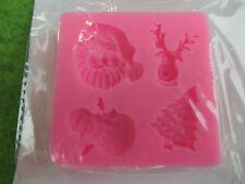 Silikonform Weihnachten - kleine Weihnachtsmotive für Gießmassen - Seife + mehr