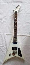 Vintage Electric Guitar V Shape white color WO20985