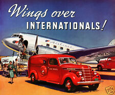 1939 INTERNATIONAL HARVESTER Postal Van, RED, Refrigerator Magnet