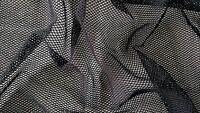 Black Stretch Lycra Fishnet Mesh Fabric - Diamond Design