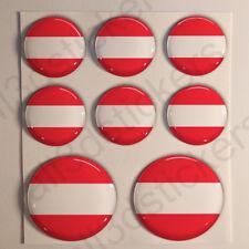 Pegatinas Austria Pegatina Bandera Austria Redondas 3D Vinilo Adhesivo Relieve