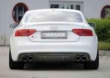 Rieger heckeinsatz en carbone-Look pour Audi a5/s5 b8 coupé/cabriolet à partir facelift
