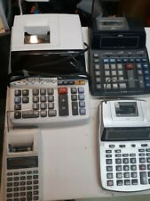 Printing Desktop Calculators Texas Instrument Cannon Sharp Ativa Lot 4 Working!