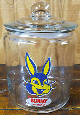 BUNNY BREAD RABBIT HEAD LOGO GLASS KITCHEN CANISTER STORAGE JAR WITH SEALED LID