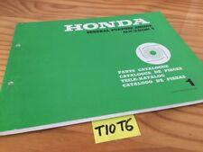 moteur Honda parts list GX390K1 GX390 K1 GX 390 catalogue pièces détachées part
