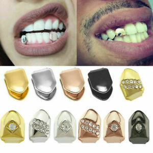 1 Pcs Glossy Hip Hop Braces 14k Gold Plated Small Tooth Cap Hip Hop Teeth Grill