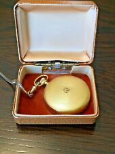 Vintage Working Bulova Caravelle 890-1 Swiss Made Pocket Watch And Fob