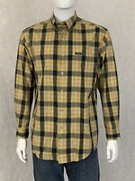 Chaps Easy Care Mens Long Sleeve Button Down Plaid Shirt Size M Medium