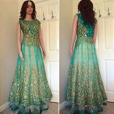 Readymade asiáticos, vestido, Anarkali, Salwar Suit. UK Size -10 (busto - 38, longitud, 60)
