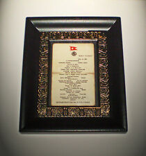 White Star Line, RMS Titanic, April 14th 1912 Luncheon Menu, Framed Replica.