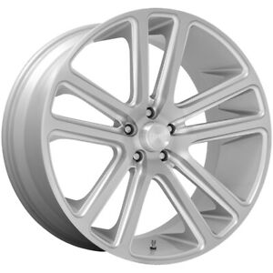 "4-Dub S257 Flex 24x10 6x135 +30mm Brushed Wheels Rims 24"" Inch"