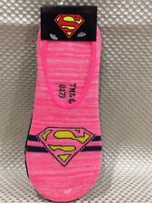 NWT SUPERMAN LADIES 2 PAIRS LOGO SHOE LINERS FOOTLETS SOCKS SIZE 4-10