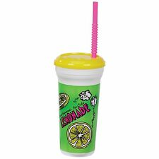 Gold Medal Heavy Duty Lemonade Plastic Cup with Lid & Straw, 32 oz (200 ct.),NEW