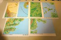 DSA Das Schwarze Auge Zubehör 6 Karten Landschaftskarten