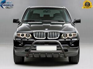 For BMW X5 BULL BAR CHROME AXLE NUDGE PUSH A-BAR 2004-2006 E53 SUPER OFFER AX1
