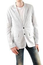Kris Van Assche Men's New Lightweight Blazer Grey Stripes Size 40 BCF511