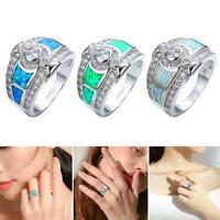 Mode Vintage Style Lichtfarbe Mondstein Ring Geometrie Diamant geschnitzt