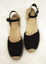 SPERRY TOP SIDER Women's Black Ankle Strap Espadrille Sandals Shoe 11M Flats