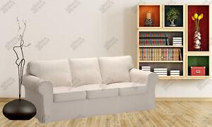 Ikea EKTORP 3 Seat sofa COVER ONLY, lofallet beige - NEW