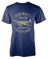 BNWT WARHAWK AIRCRAFT FIGHTER PILOT TROOPER PLANES ARMY  ADULT T-SHIRT S-XXL