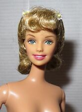 NUDE BARBIE ~ BLONDE OLIVIA NEWTON JOHN GREASE SCHOOL GIRL SANDY DOLL FOR OOAK