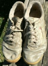 Vintage used raggedy retro ladies gray Reeboks sneakers